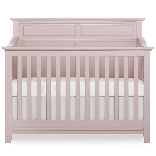 SweetPea Baby Fairview II 4-in-1 Convertible Crib in Blush Pink, ...