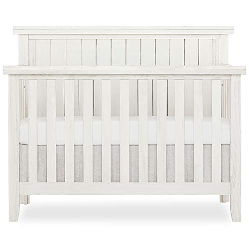 Sweetpea Baby Red Wood 4-in-1 Convertible Crib in Weathered White...