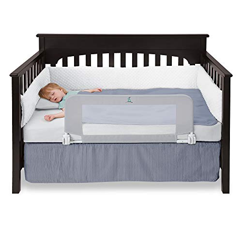 hiccapop Convertible Crib Toddler Bed Rail Guard with Reinforced ...
