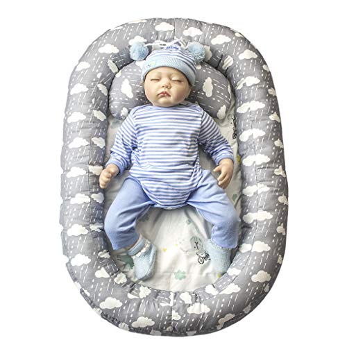 vocheer Baby Bassinet Bed, Baby Lounger Bed Portable Sleeping Cri...